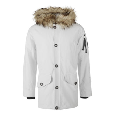 Halti Kivikko Jacket Men's Warm White Parka Jacket