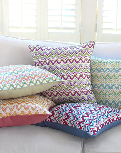 Bargello Print Pillows & Shams