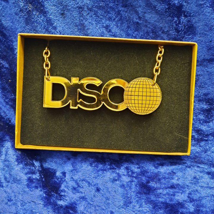 Disco gold Small Necklace