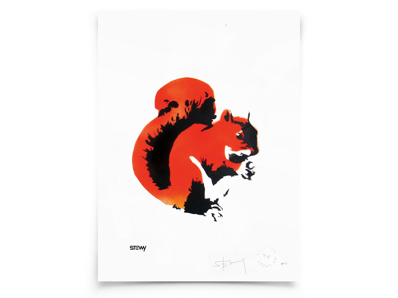 Squirrel A3 Print