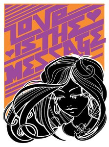 Inkie prints - Love is the message