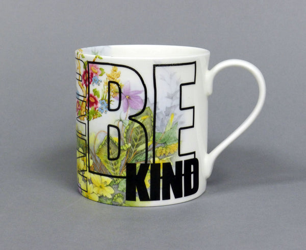 Dalai Lama Be Kind Mug with Vintage Transfers