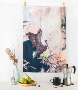Brown Pelican Tea Towel