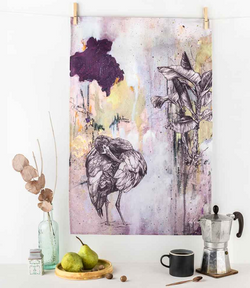 White-Faced Ibis Tea Towel