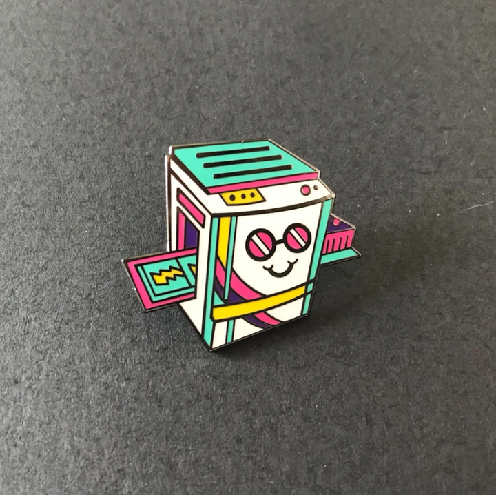 Risograph Machine Pin Badge