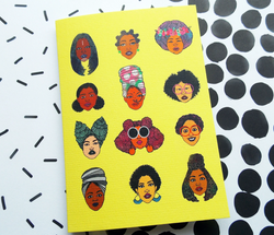 Black Hair Magic Greeting Card