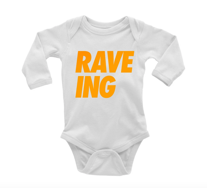 Organic Cotton RAVE-ING Baby Bodysuit