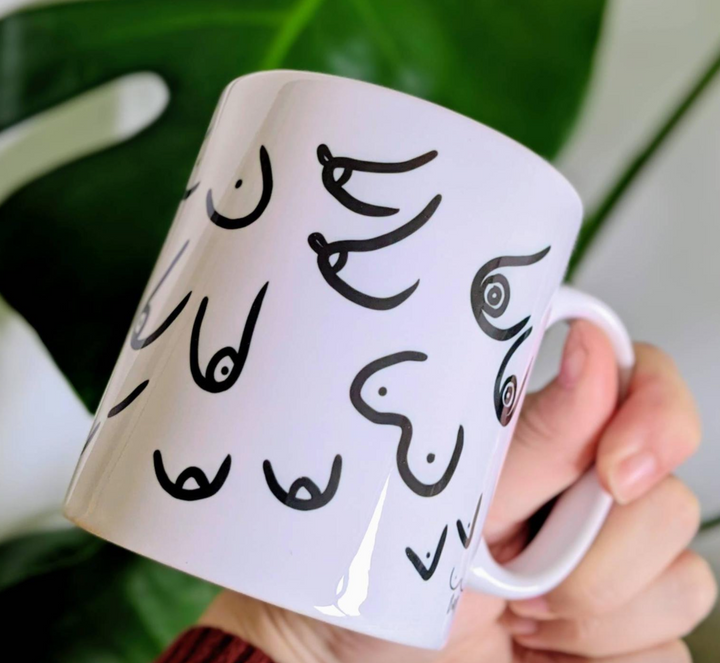 Boobs Mug - Black and White