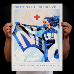 National Hero Service A3 Print