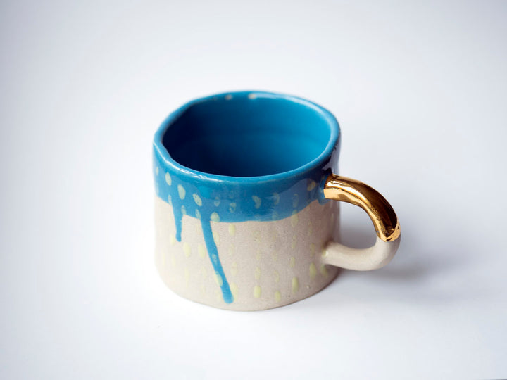 Handmade Blue Glazed Mug