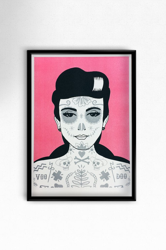 Day of The Dead Girl A3 Print