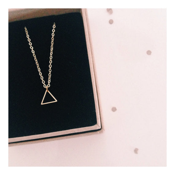 Gold Mini Triangle Necklace