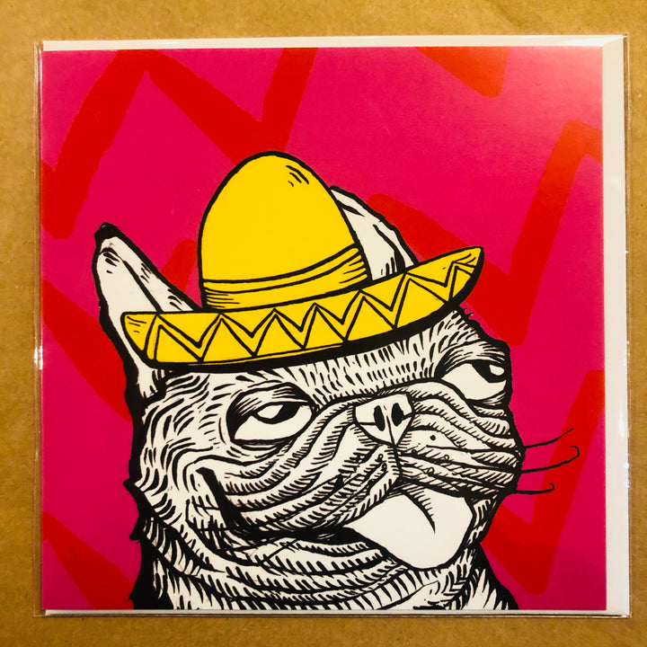 Dog with Mexican Hat Card