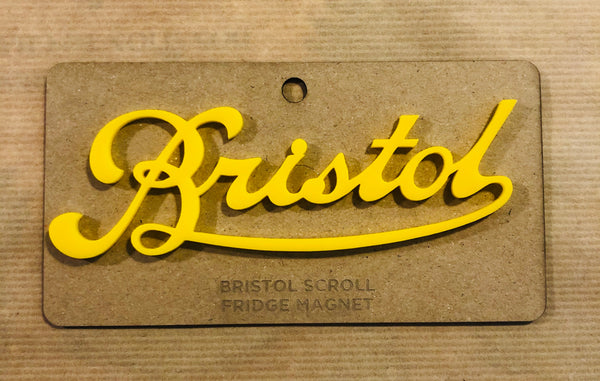 Bristol Scroll Fridge Magnet