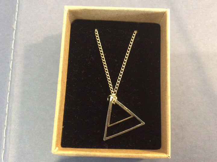 Double Triangle necklace in gift box