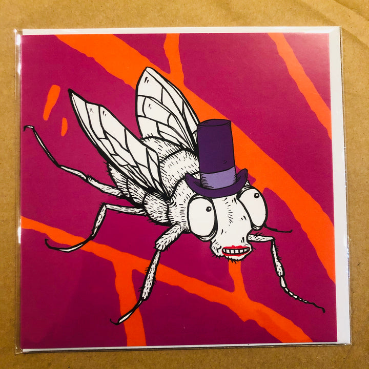 Fly with Top Hat Card