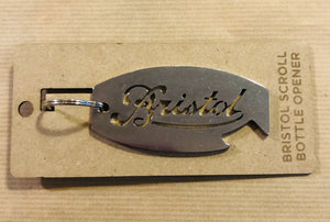 Bristol Scroll Bottle Opener Key Ring
