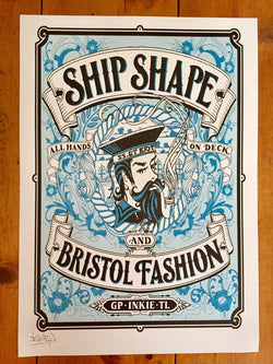 Ship Shape & Bristol Fashion A3 Print