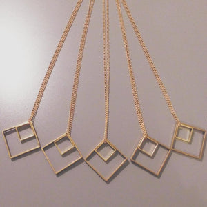 Two Square Necklace