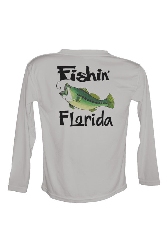 Youth UPF 50 Long sleeve sublimated Performance Shirt Fishn' Florida Bass
