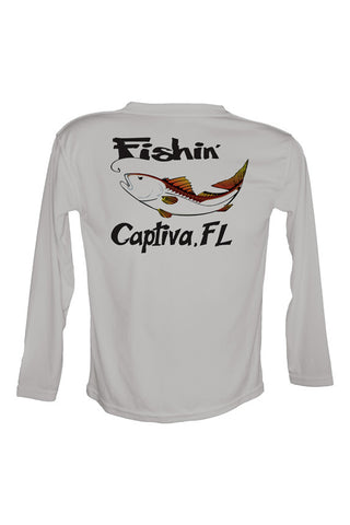 UPF 50 Long sleeve sublimated Performance Shirt Fishn' Captiva Redfish