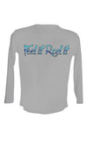 UPF 50 Long sleeve sublimated Performance Shirt Fishn' Naples Redfish