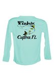 UPF 50 Long sleeve sublimated Performance Shirt Fishn' Captiva Snook
