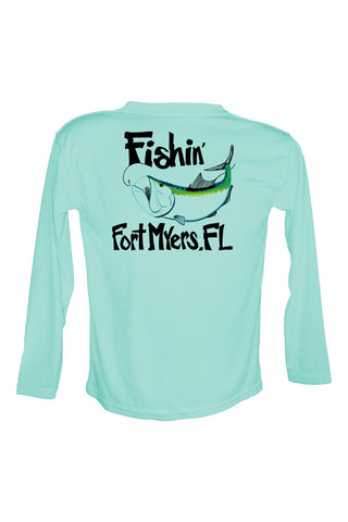 UPF 50 Long sleeve sublimated Performance Shirt Fishn' Ft. Myers Tarpon