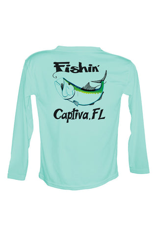 UPF 50 Long sleeve sublimated Performance Shirt Fishn' Captiva Tarpon
