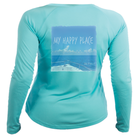 My Happy Place Women's UPF50 long sleeve performance shirt