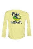 UPF 50 Long sleeve sublimated Performance Shirt Fishn' Fort Myers Mahi