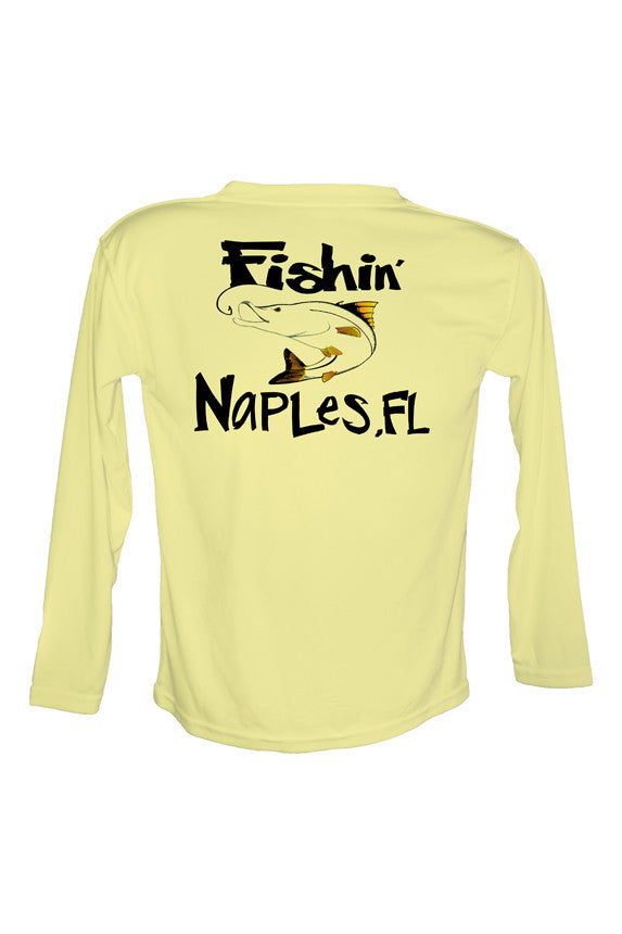 UPF 50 Long sleeve sublimated Performance Shirt Fishn' Naples Snook