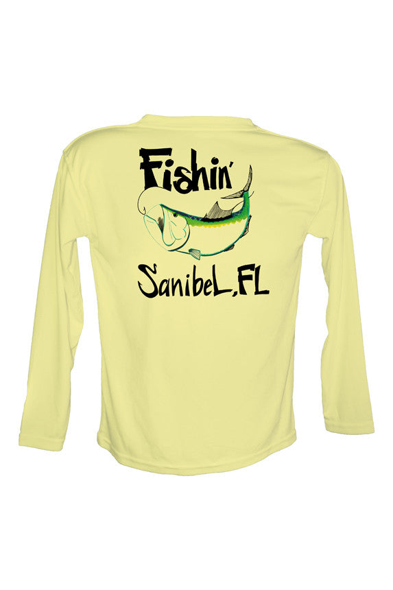 UPF 50 Long sleeve sublimated Performance Shirt Fishn' Sanibel Tarpon