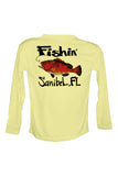 UPF 50 Long sleeve sublimated Performance Shirt Fishn' Sanibel Grouper