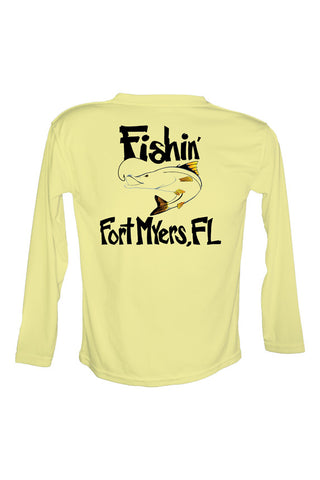 UPF 50 Long sleeve sublimated Performance Shirt Fishn' Fort Myers Snook