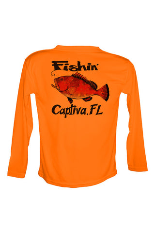 UPF 50 Long sleeve sublimated Performance Shirt Fishn' Captiva Grouper