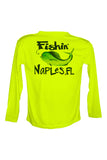 UPF 50 Long sleeve sublimated Performance Shirt Fishn' Naples Mahi