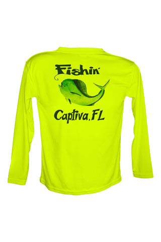 UPF 50 Long sleeve sublimated Performance Shirt Fishn' Captiva Mahi