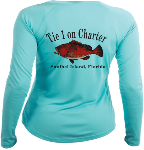 Women's Tie 1 On Charter Long Sleeve UPF50 Performance