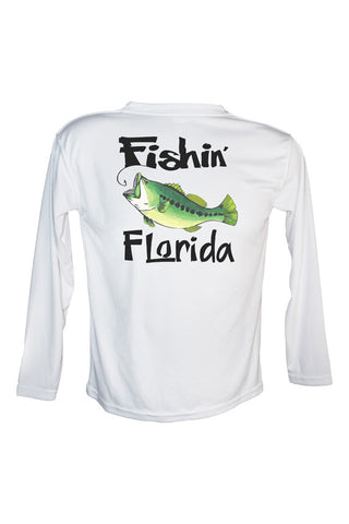 UPF 50 Long sleeve sublimated Performance Shirt Fishn' Florida Bass