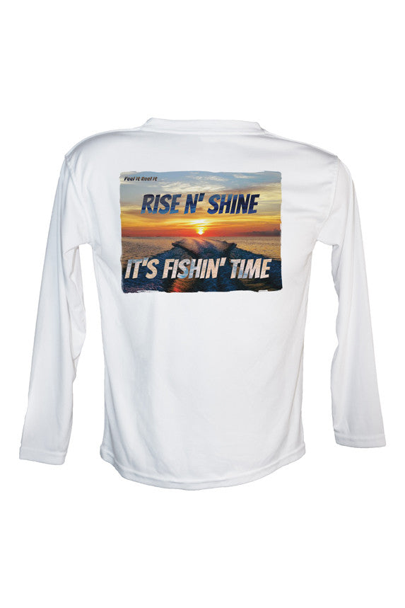 Rise N Shine It's Fishin' Time Long Sleeve UPF 50 Performance Shirt