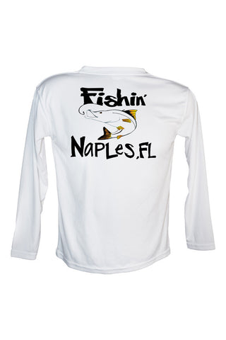 Youth UPF 50 Long sleeve sublimated Performance Shirt Fishn' Naples Snook