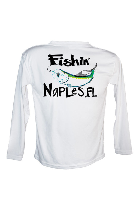 Youth UPF 50 Long sleeve sublimated Performance Shirt Fishn' Naples Tarpon