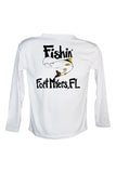 Youth UPF 50 Long sleeve sublimated Performance Shirt Fishn' Ft. Myers Snook