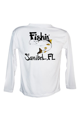Youth UPF 50 Long sleeve sublimated Performance Shirt Fishn' Sanibel Tarpon