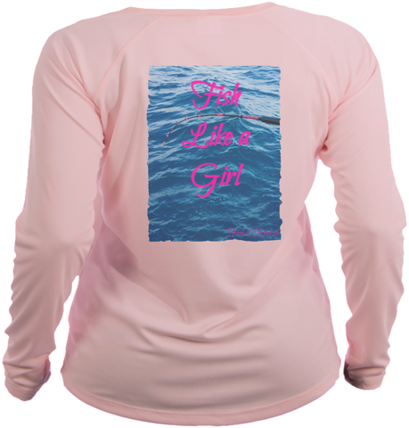 Fish Like a Girl Long Sleeve UPF50 performance shirt