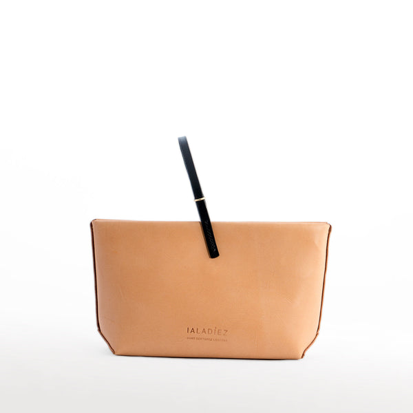 EOLIE CLUTCH NATURAL HAND STITCHED BACK