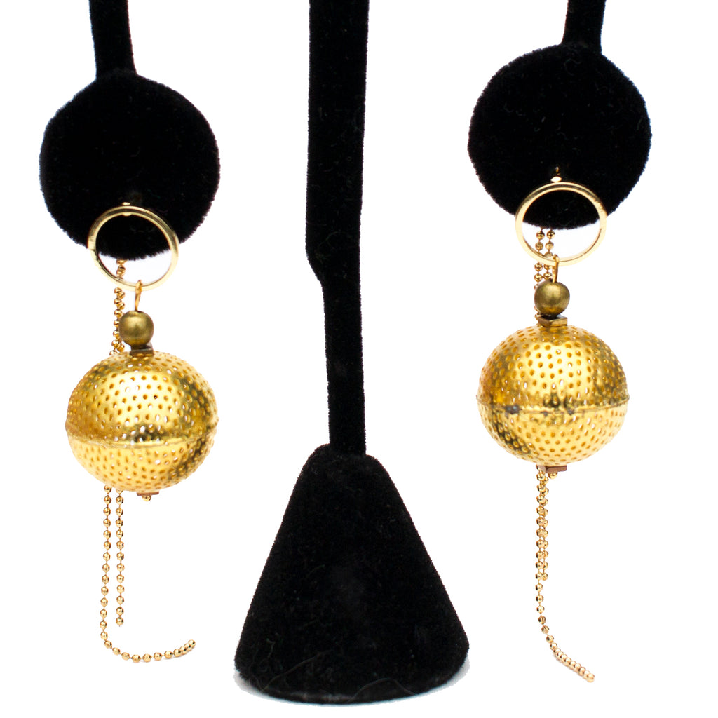 Sphere front to Back Earrings