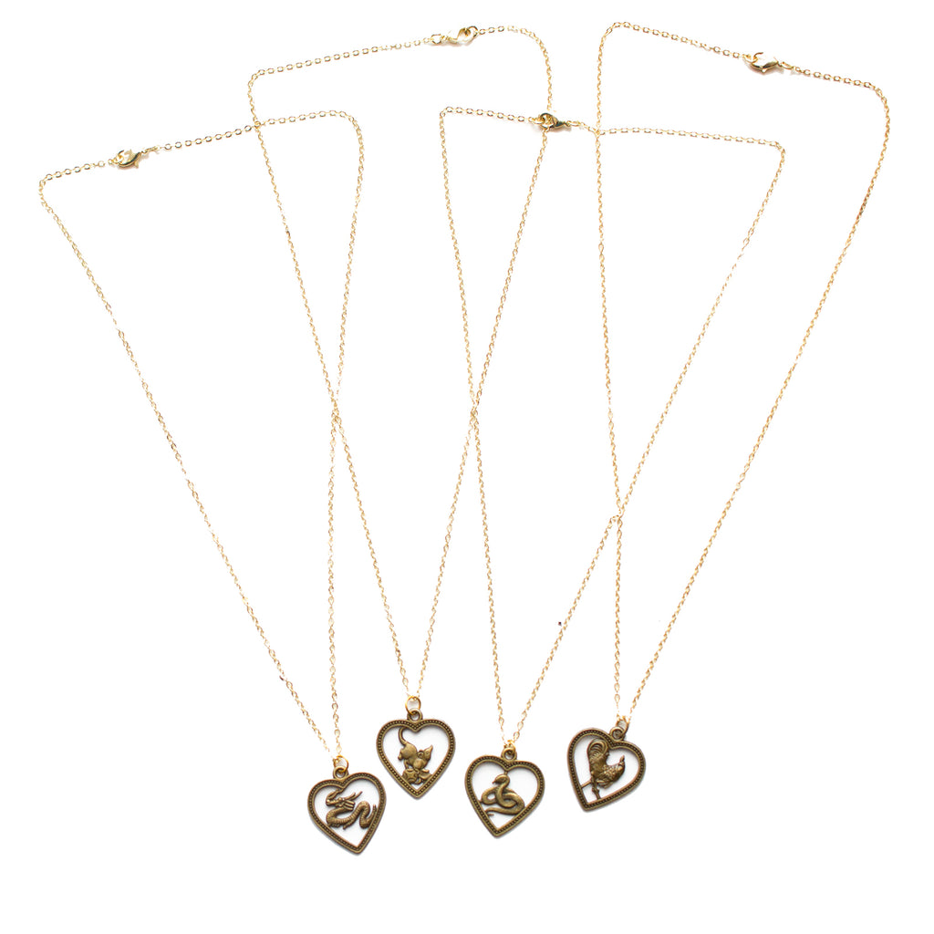 Chinese Zodiac Necklaces - Honey Rose & K