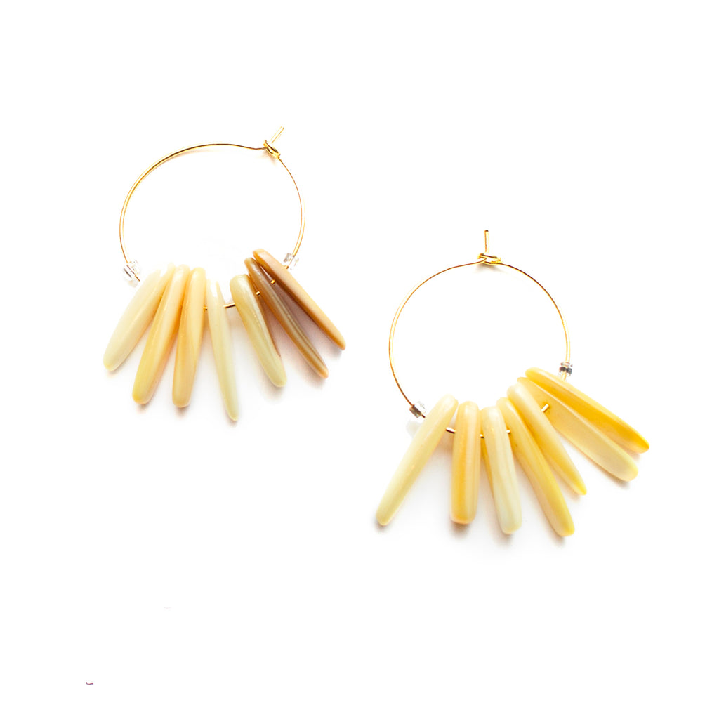 Fall Yellow Hoop Earrings